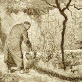 The Bishop of Digne in his garden